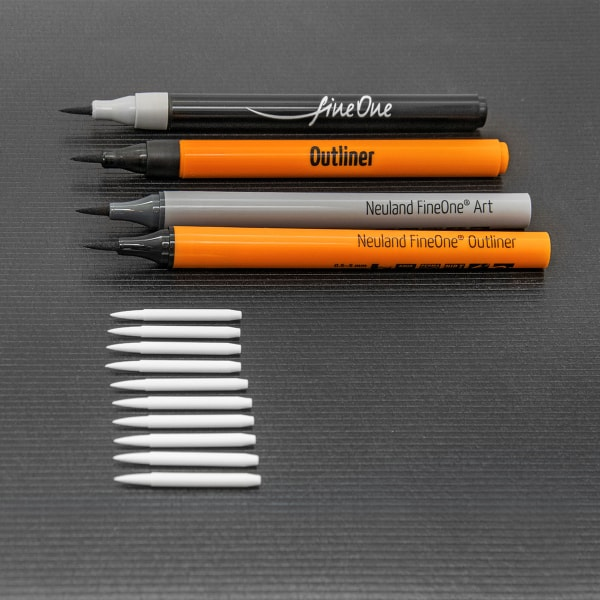 Replacement nibs Neuland FineOne® Art, brush nib 0,5 - 5 mm