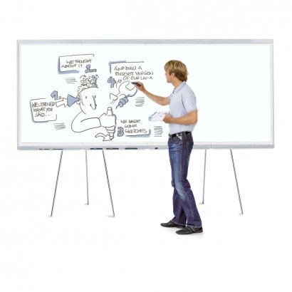 LW-X GraphicWall, 4 Board Elements/Set - white foam board