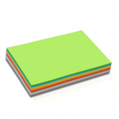 250 Rectangular Pin-It Cards, special size DIN A5, assorted colours