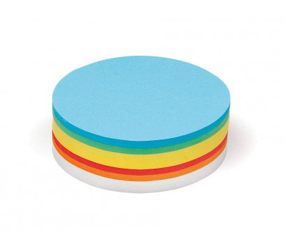 500 Large Circular Pin-It Cards, assorted colours