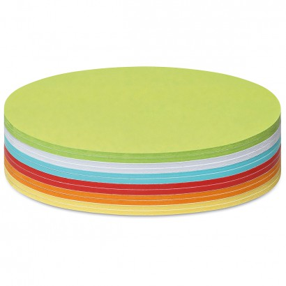 300 Oval Stick-It Cards, assorted colours